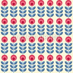 Roses scandinaves Motif Vectoriel Sans Couture