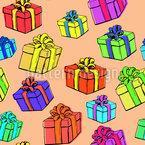 Geschenkbox Nahtloses Vektormuster