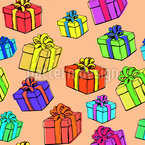 Gift Box Seamless Vector Pattern Design