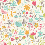 Enchantement floral Motif Vectoriel Sans Couture