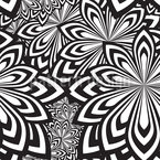Psychedelic Flowers Seamless Vector Pattern Design