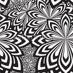 Psychedelische Blumen Vektor Muster