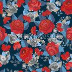 Die Rosen Sammlung Nahtloses Vektormuster
