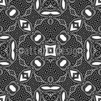 Orient dans le Kaléidoscope Motif Vectoriel Sans Couture