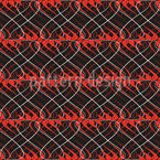 Flames On Wire Seamless Vector Pattern Design