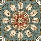 Märchenhaftes Mandala Nahtloses Vektormuster