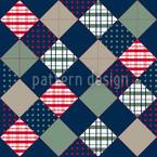 Flic Flac Blue Seamless Pattern