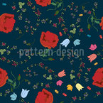 Floral Mix Seamless Vector Pattern Design