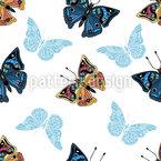 Schmetterlinge In Meinem Garten Nahtloses Vektormuster