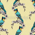 Belleza Bird Estampado Vectorial Sin Costura