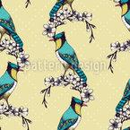 Vogel Schönheit Nahtloses Vektormuster