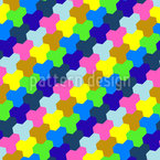 Play With Hexagons Seamless Vector Pattern
