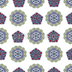 Crystal And Floral Seamless Vector Pattern Design
