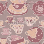 Teacup Romance Estampado Vectorial Sin Costura