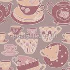 Teetassen Romanze Nahtloses Vektormuster