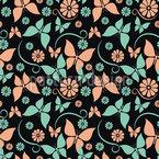Vintage Schmetterlinge Nahtloses Vektor Muster
