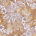 Henna Floral Seamless Vector Pattern Design