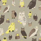 Wise Owls Repeating Pattern