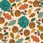 Autumn Beauties Seamless Vector Pattern Design