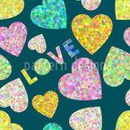 Herz Und Liebe Nahtloses Vektormuster