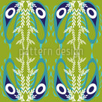 Peacock Paisley Seamless Vector Pattern Design