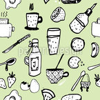 English Breakfast Seamless Vector Pattern Design