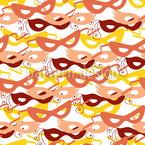 Karnevalsmasken Rapportiertes Design