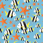 Undersea World Seamless Vector Pattern Design
