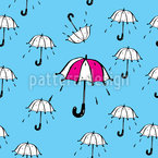 Spass im Regen Nahtloses Vektormuster