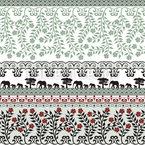 Romantic Safari In Spring Vector Pattern