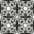 Snail Squiggle Seamless Vector Pattern Design