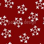 Stempel Schneeflocken Muster Design