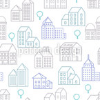 City Line Seamless Vector Pattern Design
