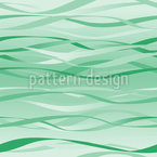 Waves In Mint green Seamless Vector Pattern Design