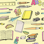 School Supplies Seamless Vector Pattern Design