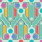 Art Deco Spass Vektor Muster