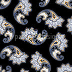 Dark Paisley Seamless Vector Pattern Design