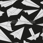 Paper Gliders In Action Seamless Vector Pattern Design
