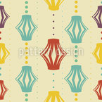 Paper Lanterns Seamless Vector Pattern