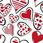 Das Herz Ausschütten Nahtloses Vektormuster