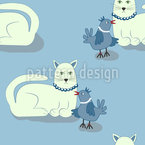 Animal Friends Seamless Vector Pattern Design