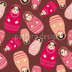 Baboushka Rock Seamless Vector Pattern Design