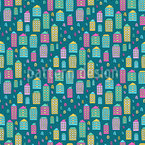 Doodle City Seamless Vector Pattern Design