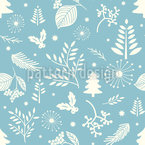 Winter Blues Vector Ornament