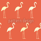 Sunset Flamingo Seamless Vector Pattern Design