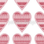Heart For Knitting Pattern Design