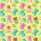 Baby-Kleidung Und Spielzeug Nahtloses Vektormuster