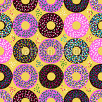 Doughnuts With Sprinkle Vector Pattern