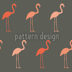 Pretty Flamingo Seamless Vector Pattern Design