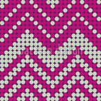 Dot Chevron Seamless Vector Pattern Design